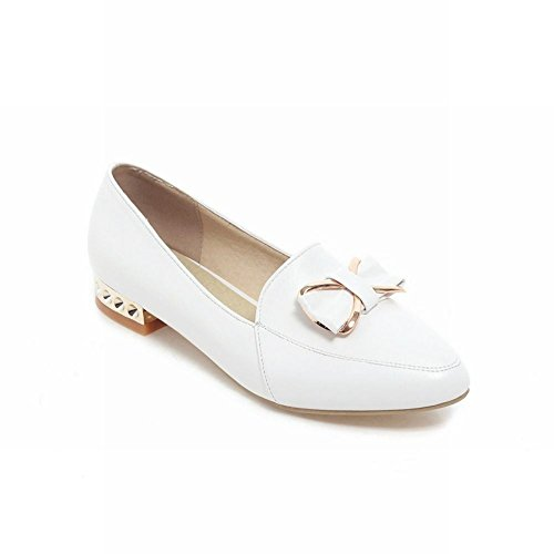 Carol Shoes Chic Womens Bows Sweet Cute Elegance Candy Color Low Tacco Mocassini Scarpe Bianche