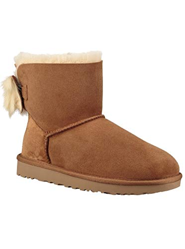 UGG Women's W Fluff Bow Mini Fashion Boot, Chestnut, 8 M US from UGG