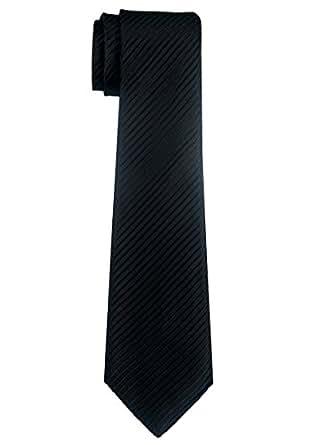 Retreez Woven Boy's Tie with Stripe Textured (8-10 years) - Black