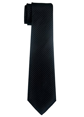 Black Boys Necktie (Retreez Woven Boy's Tie with Stripe Textured (8-10 years) - Black)
