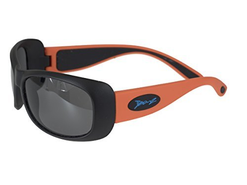 BanZ Sunglasses for Juniors (6 to 10 Years, Orange/Black Flexerz) by - Junior Banz Sunglasses
