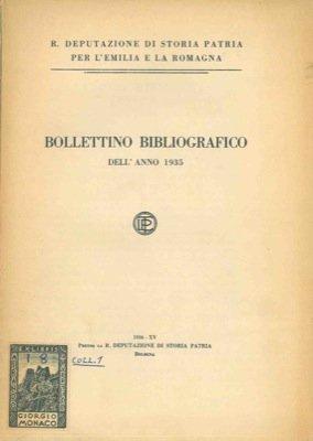Bollettino bibliografico dell'anno 1935, 1936, 1937, 1938, 1939/40.