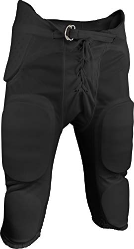 Adult Practice Football Pants - Sports Unlimited Double Knit Adult Integrated Football Pants, Black, XX-Large