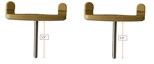 2 Replacement Long Feet for Bon Style Violin Shoulder Rest, 1.5'' by Vio Music (Image #3)