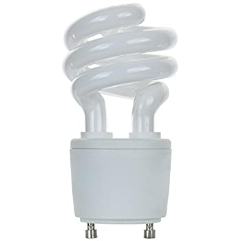 Sunlite SL13/GU24/50K SL13/GU24/50K 13-watt GU24 Spiral Energy Saving GU24 Base CFL Light Bulb, Super White