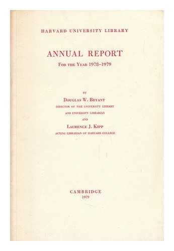 Harvard University Library, Annual Report for the Year 1978-1979