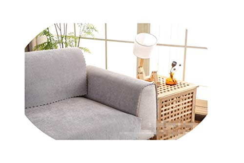 entertainment-moment Waterproof Sofa Cover Soft Anti Skid Fundas Slipcovers Outdoor/Living Room No Fade No Mildew Furniture Sectional Couch for Pets,Light Grey,70210Cm