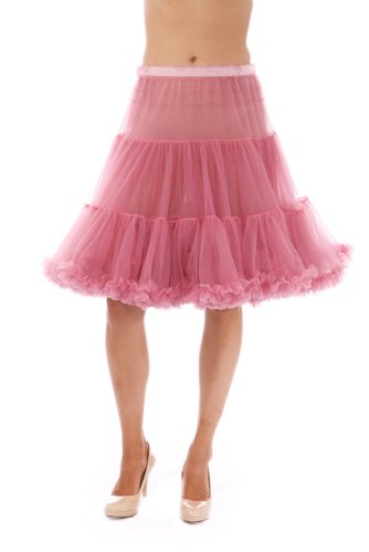 Malco Modes Luxury Vintage Knee-Length Crinoline Petticoat Skirt Pettiskirt, Adult Tutu for Rockabilly 50s square dance or Lolita dress; plus size petticoat available Dusty ()