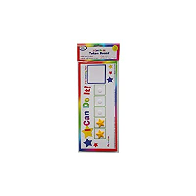 "Kenson Kids ""I Can Do It!"" Token Board, 2 Pack. Colorful Magnetic Rewards Chart with Positive-Reinforcement Stars and Customizable Goal Box. Great for Ages 3-10. Measures 5-Inches by 11-Inches: Toys & Games"