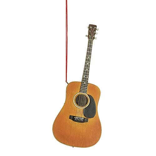 Acoustic Guitar Music Instrument Resin Stone Christmas Tree Ornament