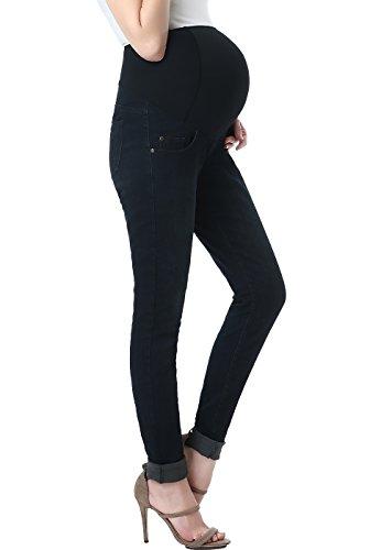 (Momo Maternity Women's Skinny Leg Denim Jeans - Black/Blue 29)