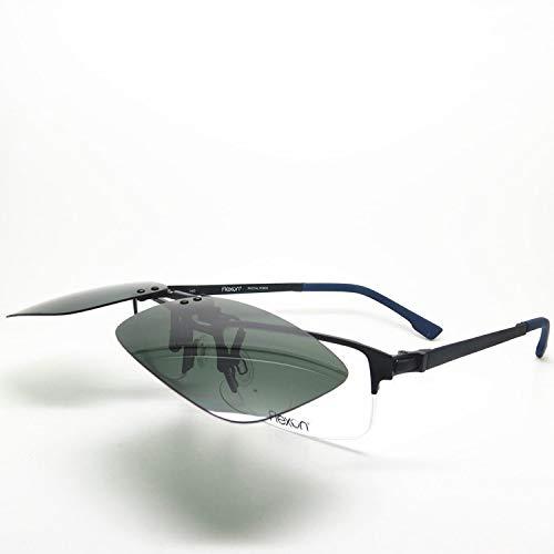 KOMNY Clip B protección Clip de A de conducción los Espejo de 4mm miopía polarizado Grueso Ojos Extra Negocio Flip 1 EqrE4UAwx