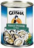 Geisha Whole Oysters in Water, 8 Oz., (Pack of 6)