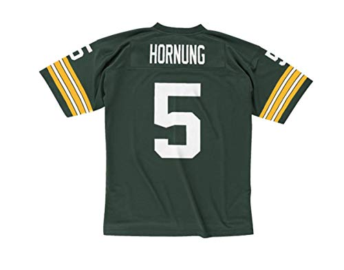 Paul Hornung Green Bay Packers Men's NFL Mitchell & Ness Premier Green Jersey