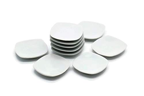 10 White Cearmic Plate Dish Bowl Dollhouse Miniatures Food Kitchen No 7 by Cool Price