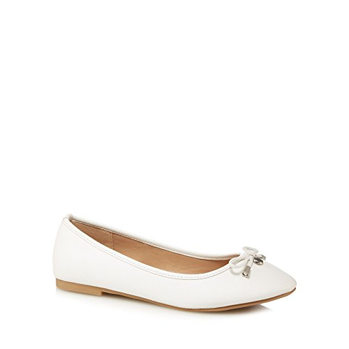 Wide Pumps Debenhams Collection White 'Carrina' The Womens Fit AzCAXq