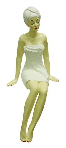Elegant Spa Beauty Woman Figurine   Shelf Sitter Towel Beauty Salon