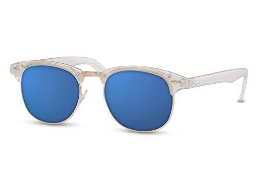 Ca Transparent Clubmaster Femmes Rétro 015 Hommes Sunglasses Miroitant Cheapass YqxF88