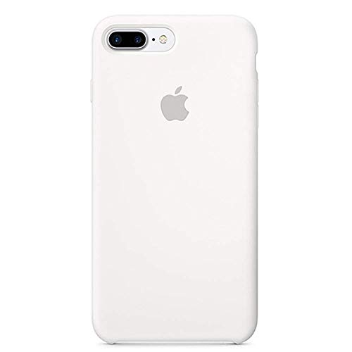 iPhone 8 Plus Silicone Case(5.5inch), TORACASE iPhone 8 Plus Liquid Silicone Gel Rubber Slim Fit Soft Mobile Phone Case with Microfiber Cloth Lining Cushion in Retail Box (White)