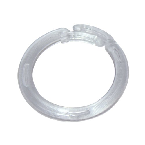 Plastic Split Rings - Home Sewing Depot - Clear Plastic Split Rings for Shades & Valances, Small, 25/pkg
