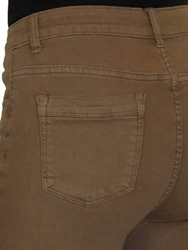Risvoltino 44 Con Chiaro Risvolto Sul 54 Vita Marrone Denim Ice Alta Jeans In wq1HpH
