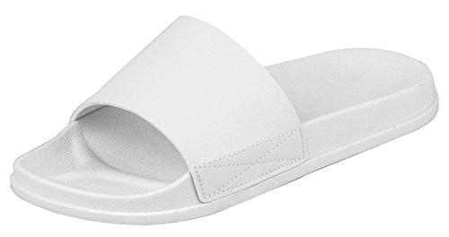 (iLoveSIA Womens Slipper Anti-Slip for Indoor Outdoor Casual Sandals White Size)