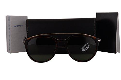 Persol PO3159S Sunglasses Havana Gold w/Green Lens 901531 PO - 3059s Persol