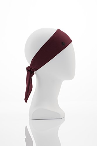 GymWrap Fitness Headband Featuring Sweat-Wicking Patented EvapoTech Perfect for Working Out, Active Lifestyle, Yoga, Running, and Outdoors by Nicole Ari Parker - Burgundy