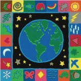 Joy Carpets Kid Essentials Geography & Environment EarthWorks Rug, Multicolored, 7'8