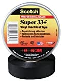 3M 33+SUPER (3/4''X20FT) TAPE, INSULATION, PVC, BLACK 0.75INX20FT (100 pieces)