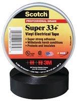 "3M 33+SUPER (3/4""X20FT) TAPE, INSULATION, PVC, BLACK 0.75INX20FT (100 pieces)"