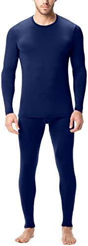 LAPASA Thermal Underwear for Men Long John Set Fleece Lined Base Layer Top and Bottom M11