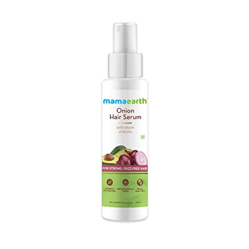 Mamaearth Onion Hair Serum For Silky & Smooth Hair, Tames Frizzy Hair, with Onion & Biotin for Strong, Tangle Free…
