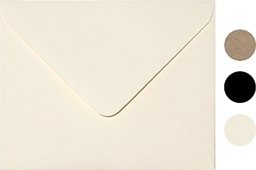 White Ivory Invitation Envelope A6 Size 100 Pcs, by Secret Life 4 3/4 x 6 1/2 Inches