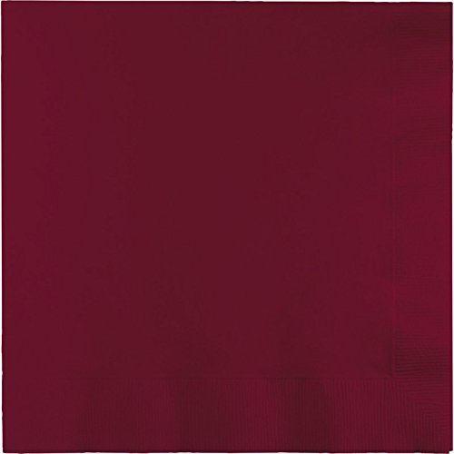 Club Pack of 250 Burgundy Premium 3-Ply Disposable Dinner Party Napkins 8.75