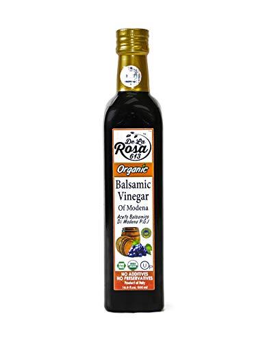 De La Rosa Real Foods & Vineyards - Organic Balsamic Vinegar of Modena (16.9 oz/500 ml)