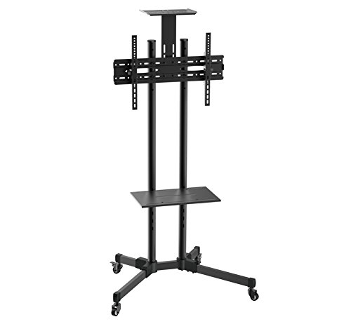 TV Stand Mobile TV Cart for Flat Screen, LED, LCD, OLED, Plasma, Curved TV's - with Mount for 37 in. - 70 in. Universal Mount with Wheels