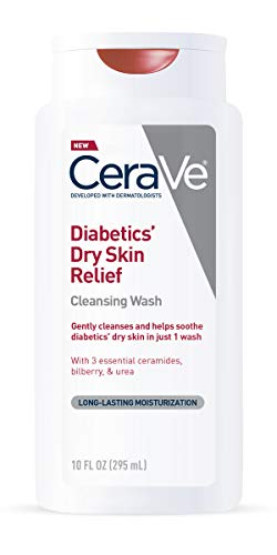 (CeraVe Body Wash for Diabetics' Dry Skin | 10 Ounce | Diabetes Care With Urea for Hydration and Bilberry for Source of Antioxidant | Fragrance & Paraben Free)