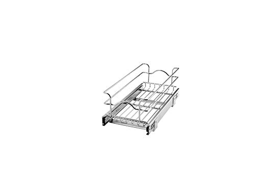 Rev-A-Shelf - 5WB1-0918-CR - 9 in. W x 18 in. D Base Cabinet Pull-Out Chrome Wire Basket
