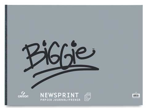 Canson Biggie Newsprint Paper Pad - 9''x12'' - 100 Sheet Pad by Canson
