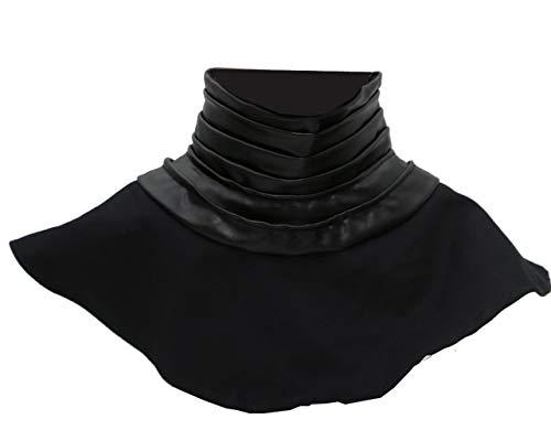 Kylo Ren Collar Neck Seal Deluxe Black PU Halloween Cosplay Costume Xcoser