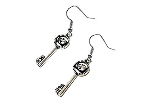 Dangle Earrings Once Upon a Time Queen's Keys In Gift Box by Superheroes