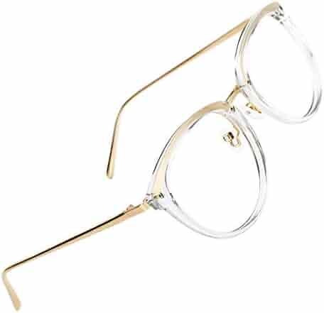 85cdf08ebe9ed TIJN Vintage Round Metal Optical Eyewear Non-prescription Eyeglasses Frame  for Women