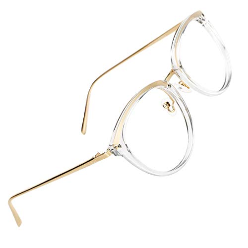 - TIJN Vintage Round Metal Optical Eyewear Non-prescription Eyeglasses Frame for Women
