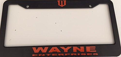 Wayne Enterprises - Black with Red Automotive License Plate Frame - Super Hero Dark Knight