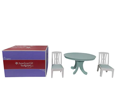 Table Dining Game Room Set (American Girl Dining Table & Chairs Set for Dolls MY AG)