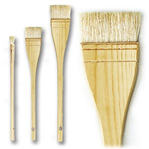 da Vinci Varnish & Priming Series 11245 Professional Hake Brush, White Goat Hair with Plainwood Handle, Size 4