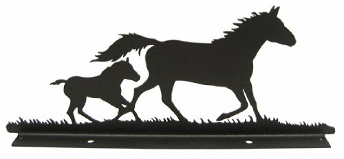 Mare & Foal Horse Mailbox Topper