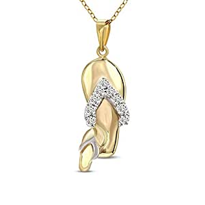 Tanache Pendant in 1.881 grams gold weight with 9 diamond stones in 0.07 carat weight