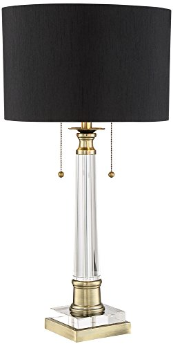 Lamp Column Black Table (Vienna Full Spectrum Stephan Crystal Column Table Lamp)